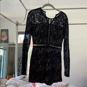 Black lace romper from Altard state